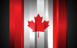 Abstract Canada Flag on black background